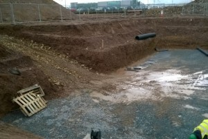Access Ramp into Attenuation Tank