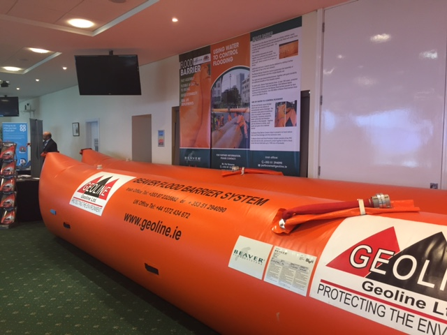 Geoline inflatable flood barriers UK