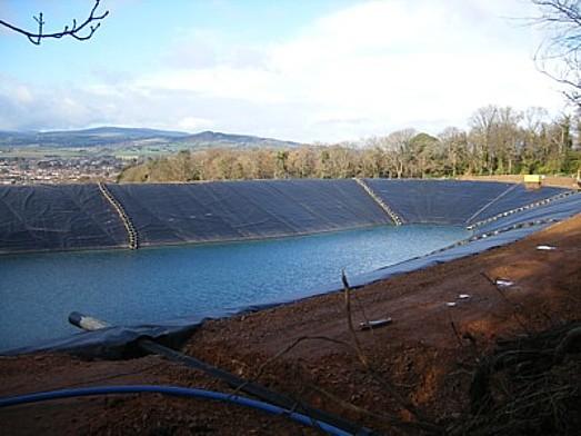 Fire Water Retention Pond