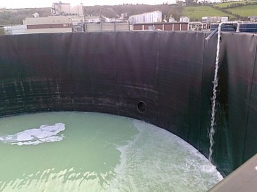 Sectional Steel Tank Lining for Effluent Treatment