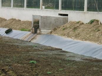 farm slurry storage flow chanel