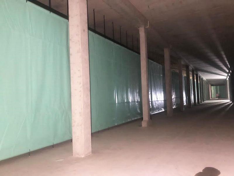 Stillorgan Reservoir Baffle Curtain Installation Straight Length