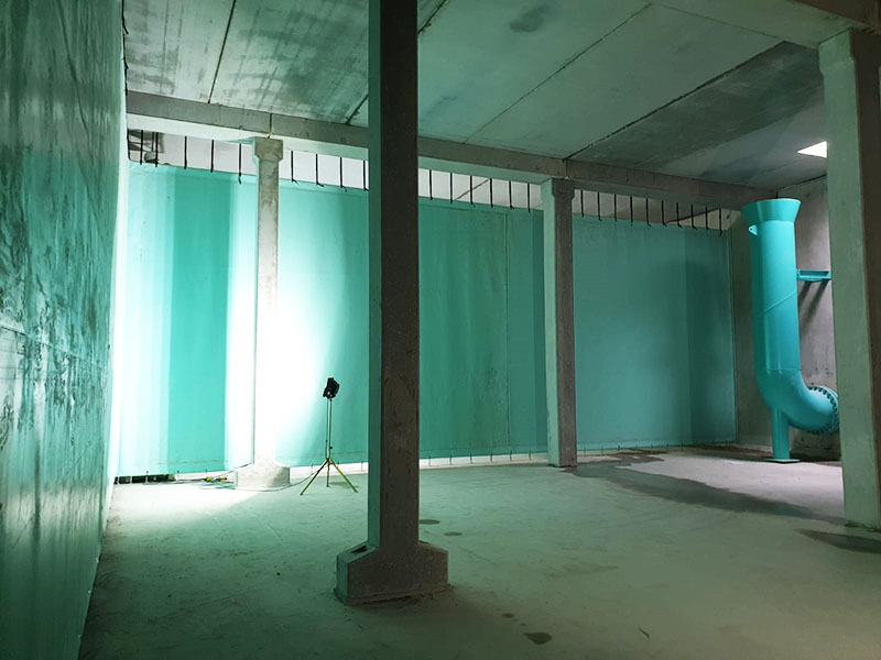 Stillorgan Reservoir Baffle Curtains Wall Connection and Inlet
