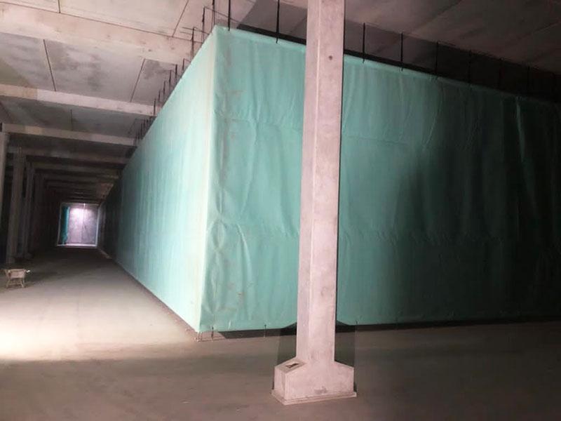 Stillorgan Reservoir Baffle Curtains Single Corner