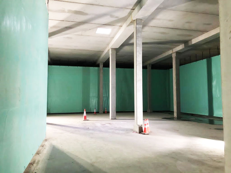 Stillorgan Reservoir Baffle Curtains Corner Sections