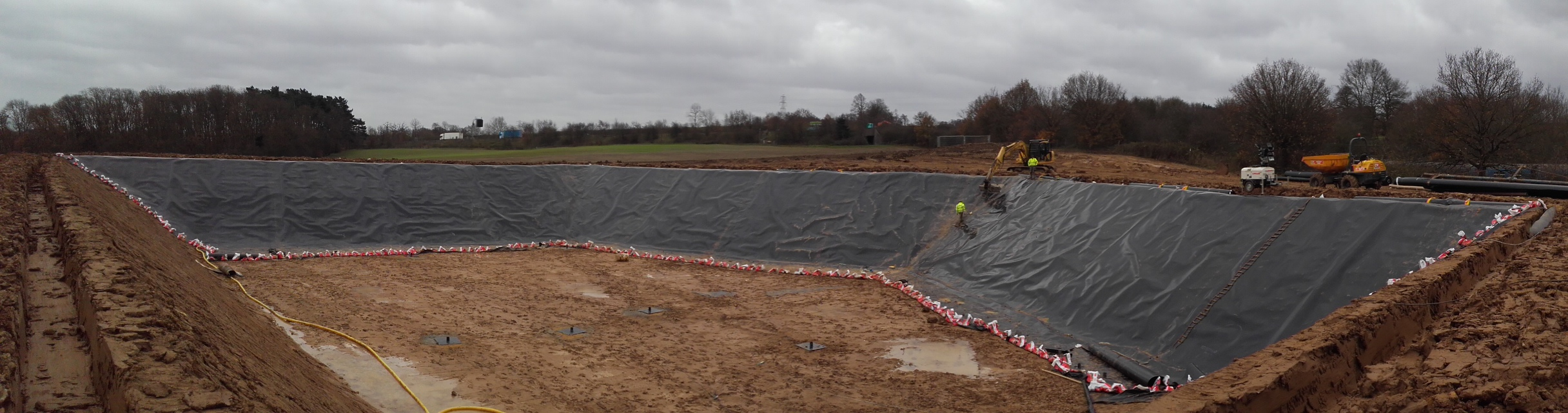 Base Liner Installation to AD Lagoon