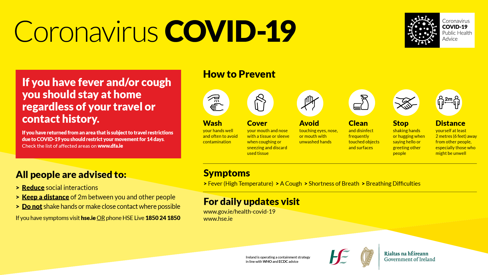 HSE Covid-19 Facts Poster