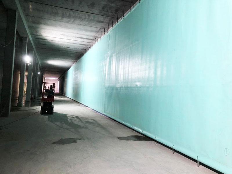 Baffle Curtains Reservoir Water Treatment Installation