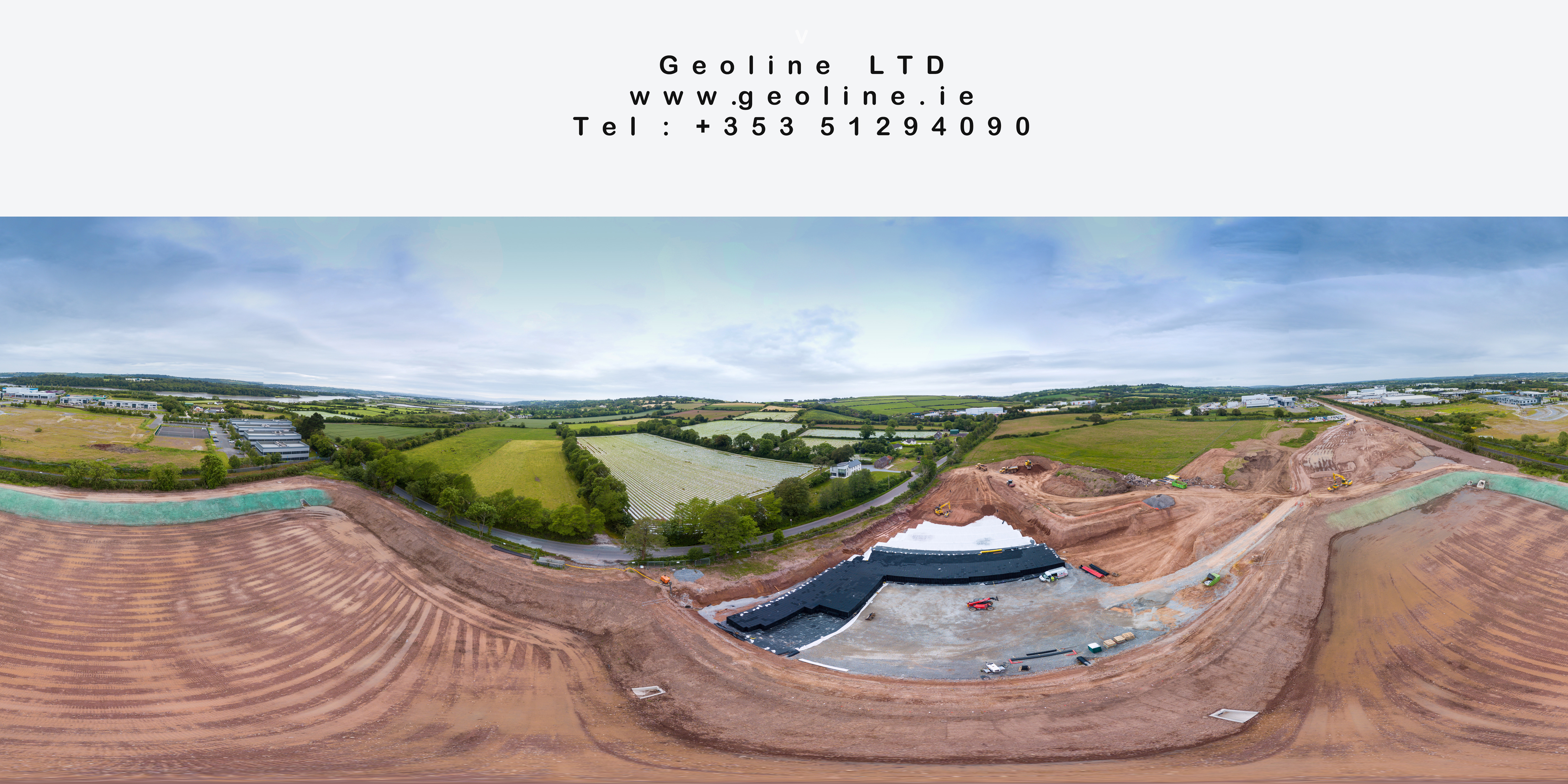 Carrigtwohill Attenuation Tanks And Pond Aerial Shot