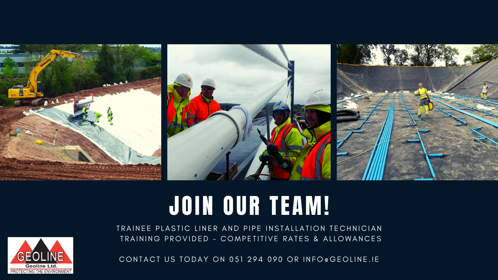 Trainee Plastic Liner And Pipe Installation Technician Poster