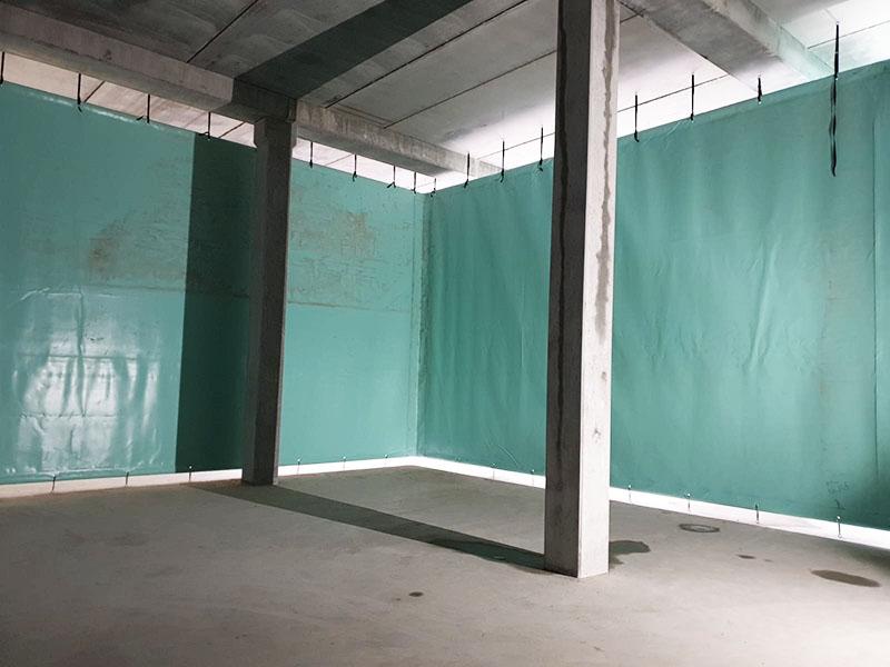 Stillorgan Reservoir Baffle Curtains Internal Corner