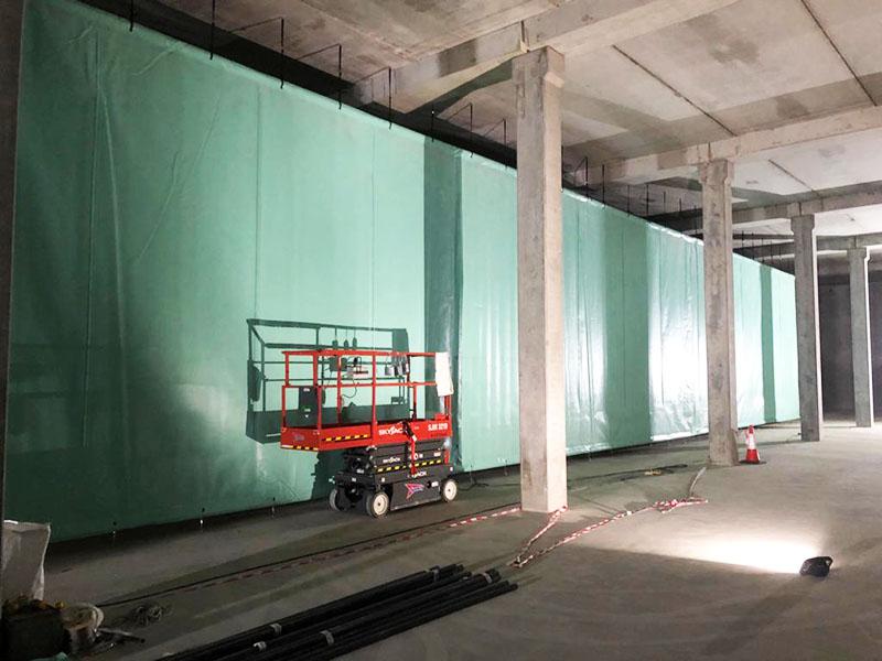 Stillorgan Reservoir Baffle Curtain Installation