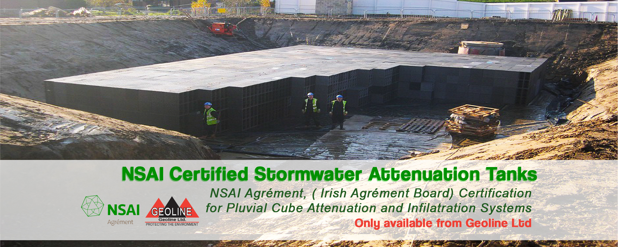 geoline nsai certified storm water attenuation tanks
