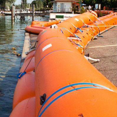 inflatable water filled flood barriers by GEOLINE