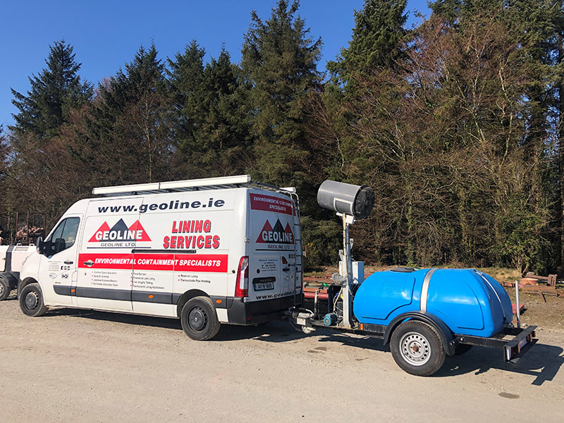 Odour Control Mobile Atomiser Tow Behind Geoline Van